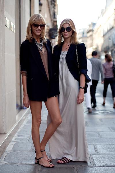 Фото как носить пиджак с платьем