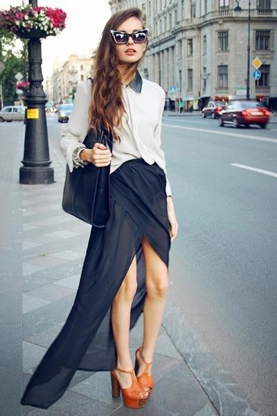 С чем носить шифоновую юбку: обзор (25 фото) | Искусство быть женщиной