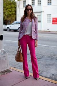 брюки розового цвета фото