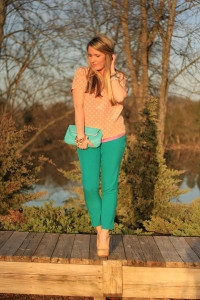 бирюзовые брюки фото