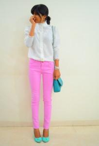 розовые брюки фото