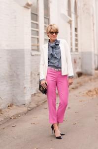 брюки розового цвета