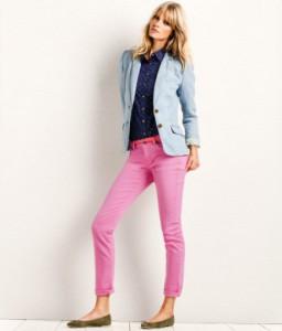 розовые брюки