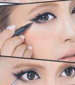 Как красить глаза жидкой подводкой