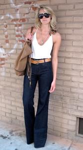 джинсы с высокой талией