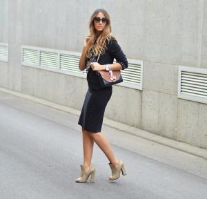подходящая обувь к юбке-карандаш фото