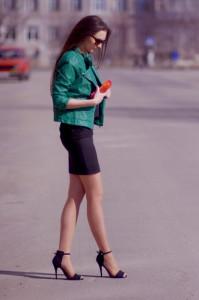 зеленая куртка фото