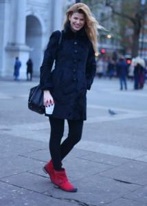 ботинки красного цвета фото
