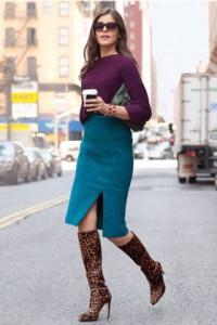 обувь с юбкой-карандаш фото