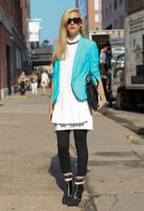 пиджак бирюзового цвета