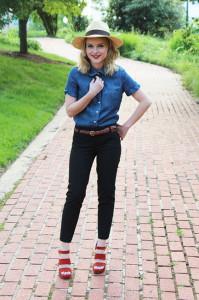 С какой обувью надевать укороченные брюки фото