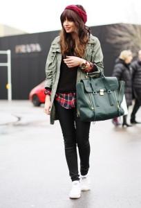 С чем носить зеленую куртку фото