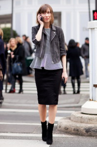 Какую обувь носить с юбкой-карандаш