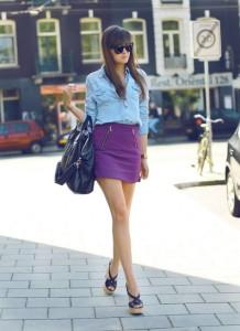 С чем носить короткую юбку фото