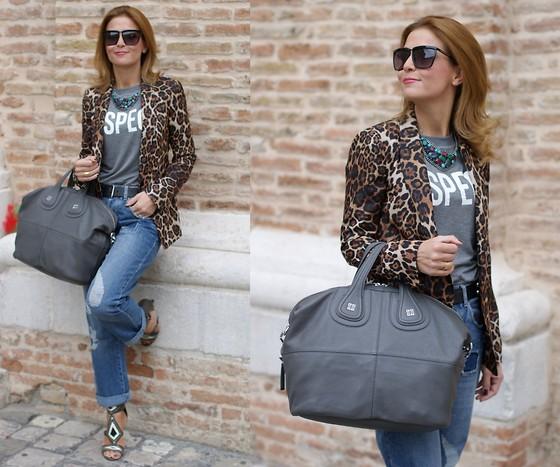 пиджак с леопардовым принтом фото