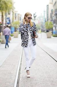 пиджак с леопардовым принтом