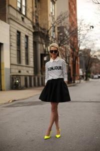 С чем носить юбку клеш фото