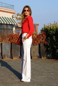 С чем носить красную блузку