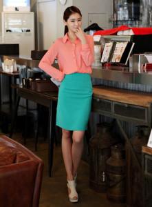 юбка карандаш с завышенной талией фото