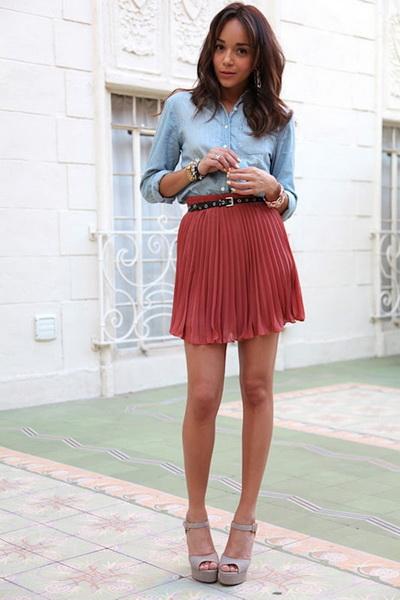 обувь под юбку плиссе: