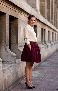 с чем носить объемную юбку фото