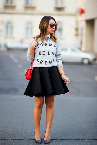юбка с баской с обувью