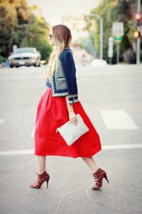 с чем носить пышную юбку фото