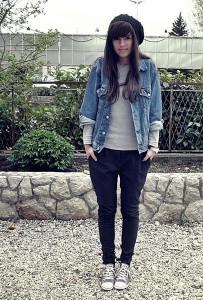 С чем носить джинсовый жакет фото