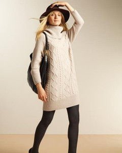 с чем носить свитер платье фото