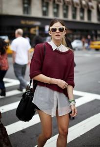 короткий свитер фото