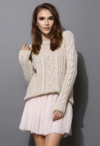 с чем носить свитер белого цвета фото