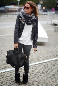 С чем носить куртку-косуху