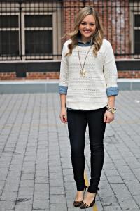 С чем носить белый свитер фото