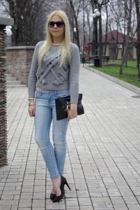 с чем носить короткий свитер фото