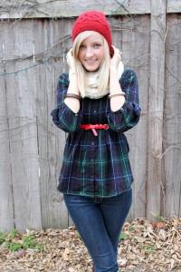 Как носить шарф восьмерку фото