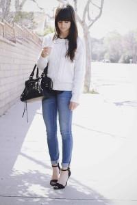 белый свитер фото
