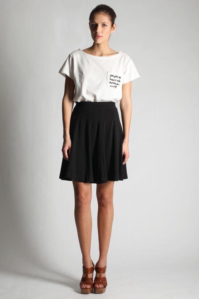 Купить юбку клеш белую