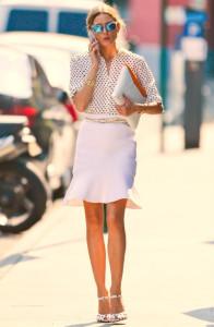 С чем носить расклешенную юбку фото