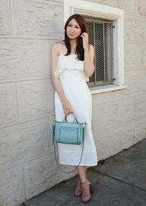 молочное платье фото