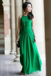 изумрудное платье фото
