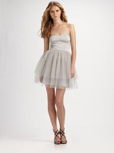 С чем носить серебристое платье фото