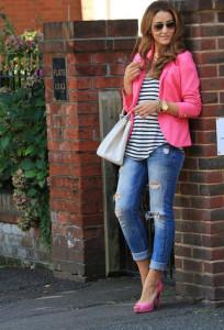 с чем носить туфли розового цвета фото