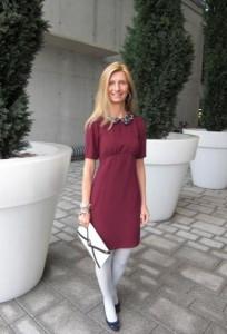 бордовое платье фото