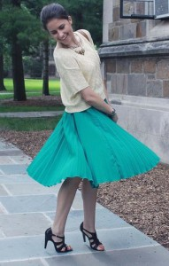 Что носить с бирюзовой юбкой фото