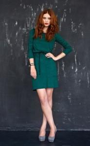 С чем носить изумрудное платье