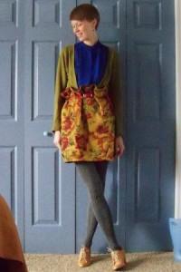 С чем носить горчичную юбку