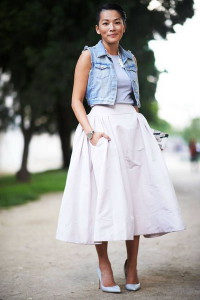 юбка средней длины