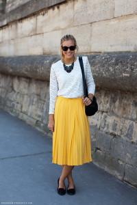 юбка средней длины фото