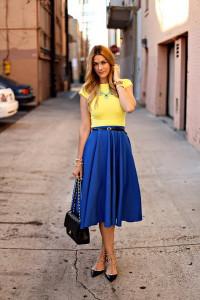 с чем носить юбку средней длины