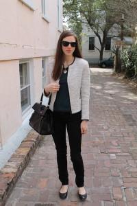 женский твидовый пиджак